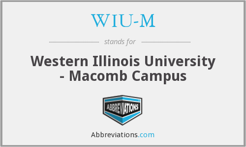 What does WIU-M stand for?