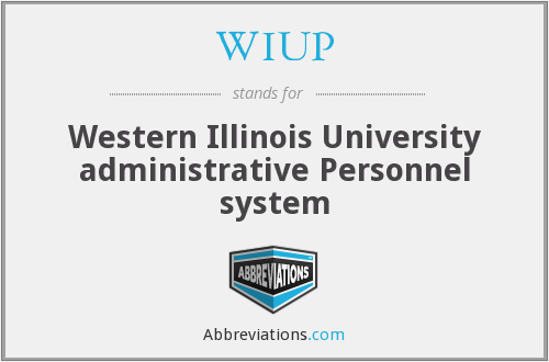 WIUP - Western Illinois University administrative Personnel system