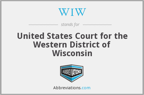WIW - United States Court for the Western District of Wisconsin