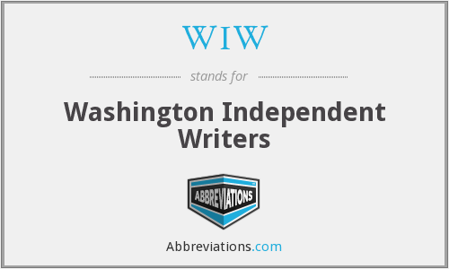 WIW - Washington Independent Writers