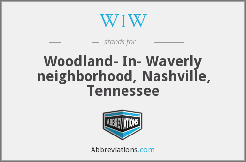 WIW - Woodland- In- Waverly neighborhood, Nashville, Tennessee