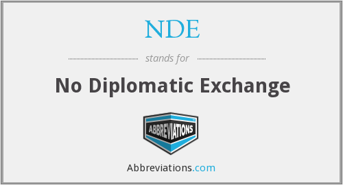 NDE - No Diplomatic Exchange