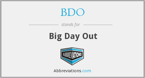 BDO - Big Day Out