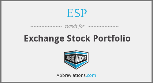 ESP - Exchange Stock Portfolio