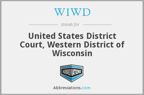 WIWD - United States District Court, Western District of Wisconsin