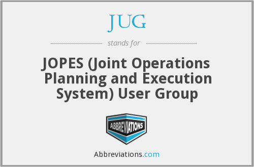 JUG - JOPES (Joint Operations Planning and Execution System) User Group