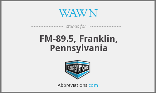 WAWN - FM-89.5, Franklin, Pennsylvania