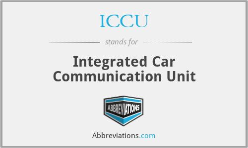 ICCU - Integrated Car Communication Unit
