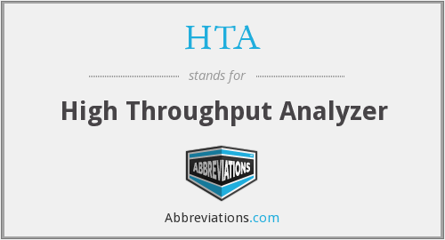 HTA - High Throughput Analyzer