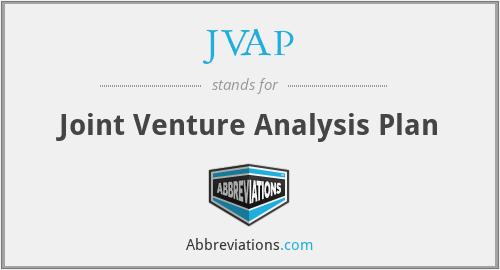 JVAP - Joint Venture Analysis Plan