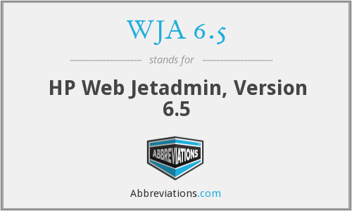 What does WJA 6.5 stand for?