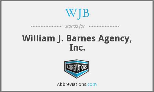 What is the abbreviation for william j. barnes agency, inc.?