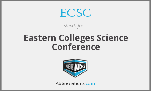 ECSC - Eastern Colleges Science Conference