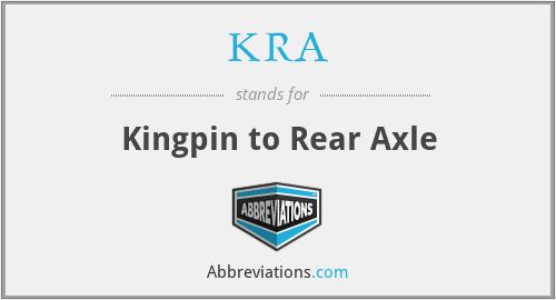 KRA - Kingpin to Rear Axle