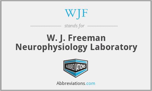 WJF - W. J. Freeman Neurophysiology Laboratory