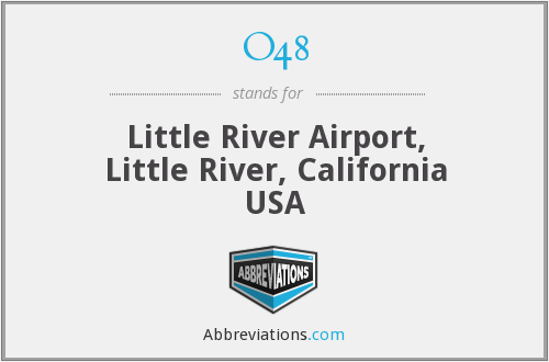 O48 - Little River Airport, Little River, California USA