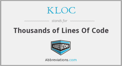 What does KLOC stand for?