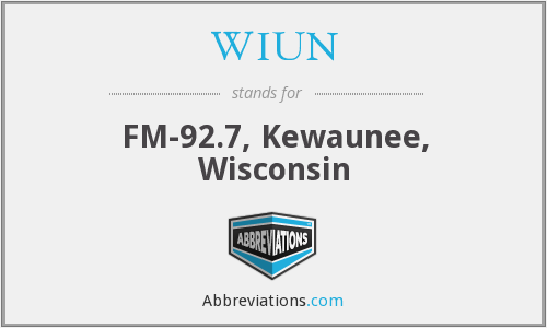 WIUN - FM-92.7, Kewaunee, Wisconsin