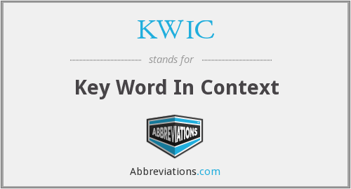 KWIC - Key Word In Context