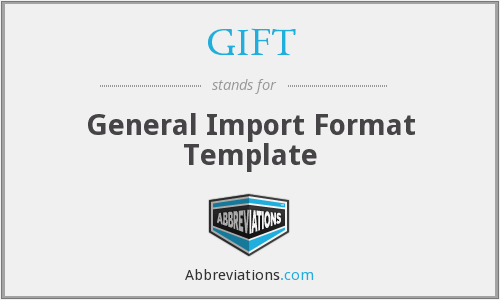 GIFT - General Import Format Template
