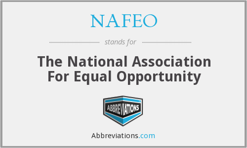 NAFEO - The National Association For Equal Opportunity