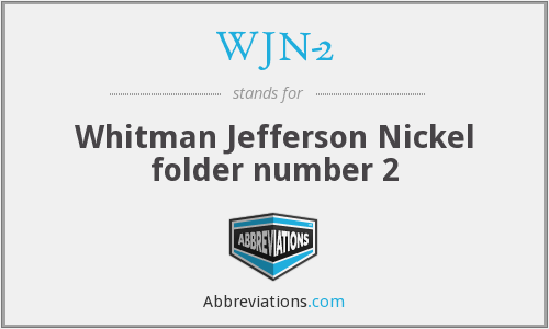WJN-2 - Whitman Jefferson Nickel folder number 2