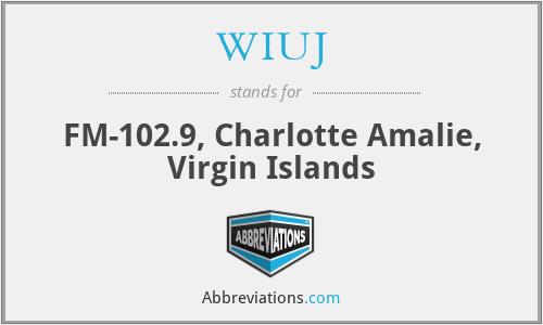 WIUJ - FM-102.9, Charlotte Amalie, Virgin Islands