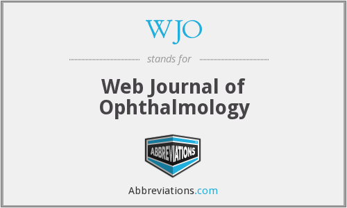 WJO - Web Journal of Ophthalmology