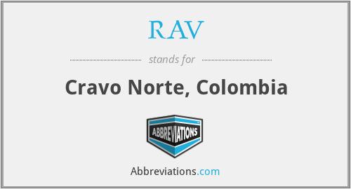 RAV - Cravo Norte, Colombia