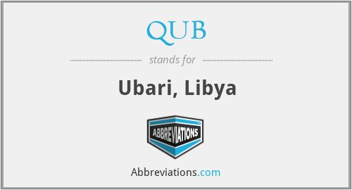 QUB - Ubari, Libya