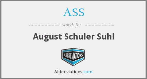 ASS - August Schuler Suhl