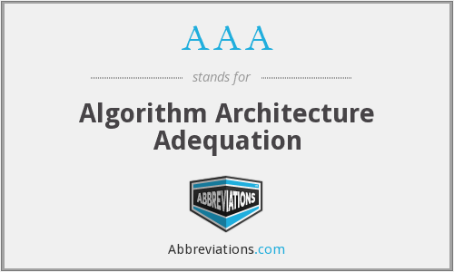 AAA - Algorithm Architecture Adequation