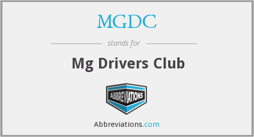 What does MGDC stand for?