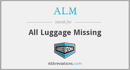 ALM - All Luggage Missing