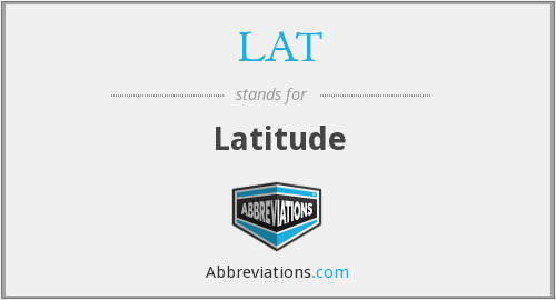 What does LAT. stand for?