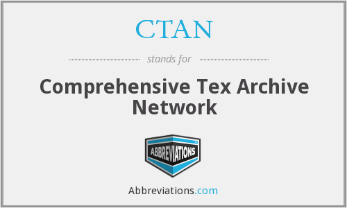 CTAN - Comprehensive Tex Archive Network