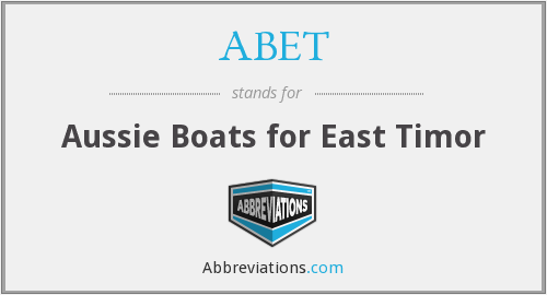 ABET - Aussie Boats for East Timor