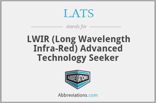 LATS - LWIR (Long Wavelength Infra-Red) Advanced Technology Seeker
