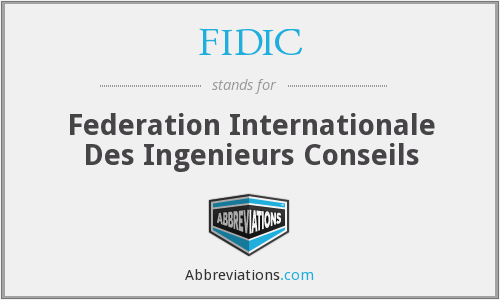 What does FIDIC stand for?