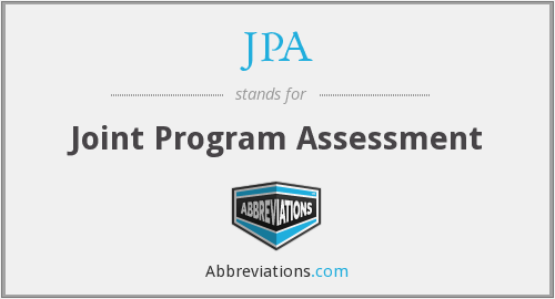 JPA - Joint Program Assessment