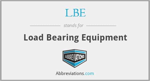 LBE - Load Bearing Equipment