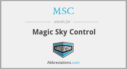MSC - Magic Sky Control