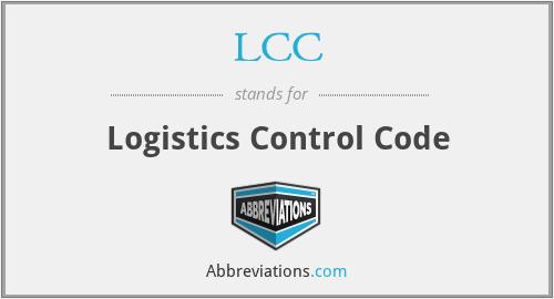 LCC - Logistics Control Code