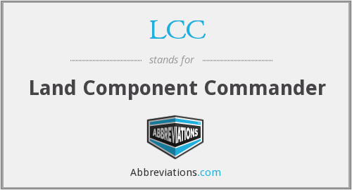 LCC - Land Component Commander
