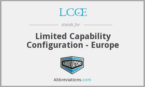 What does LCC-E stand for?