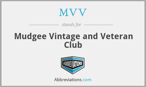 MVV - Mudgee Vintage and Veteran Club