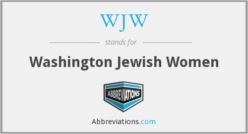 WJW - Washington Jewish Women