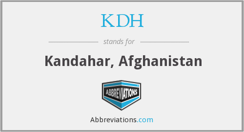 What does KDH stand for?