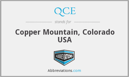 QCE - Copper Mountain, Colorado USA
