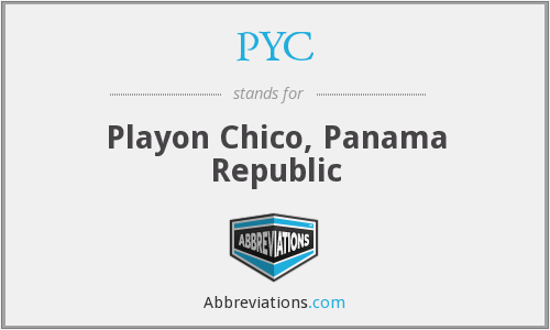 PYC - Playon Chico, Panama Republic